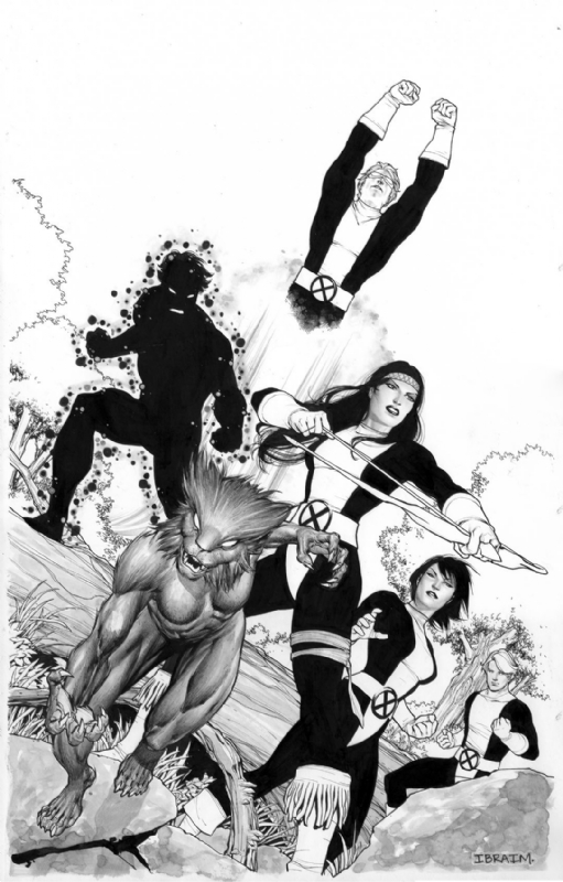 The New Mutants (x-men) Comic Art